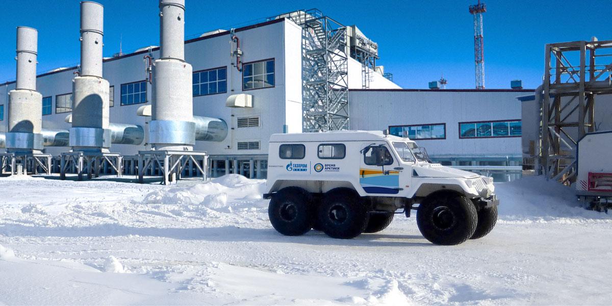 Машина со знаком «Время арктики»