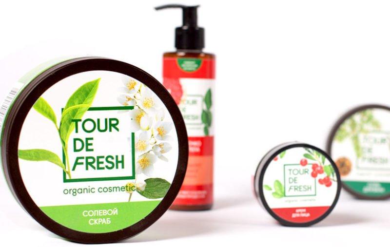 Разработка дизайна упаковки Tour De Fresh. В дизайне упаковки позиционирование бренда получило свое новое развитие