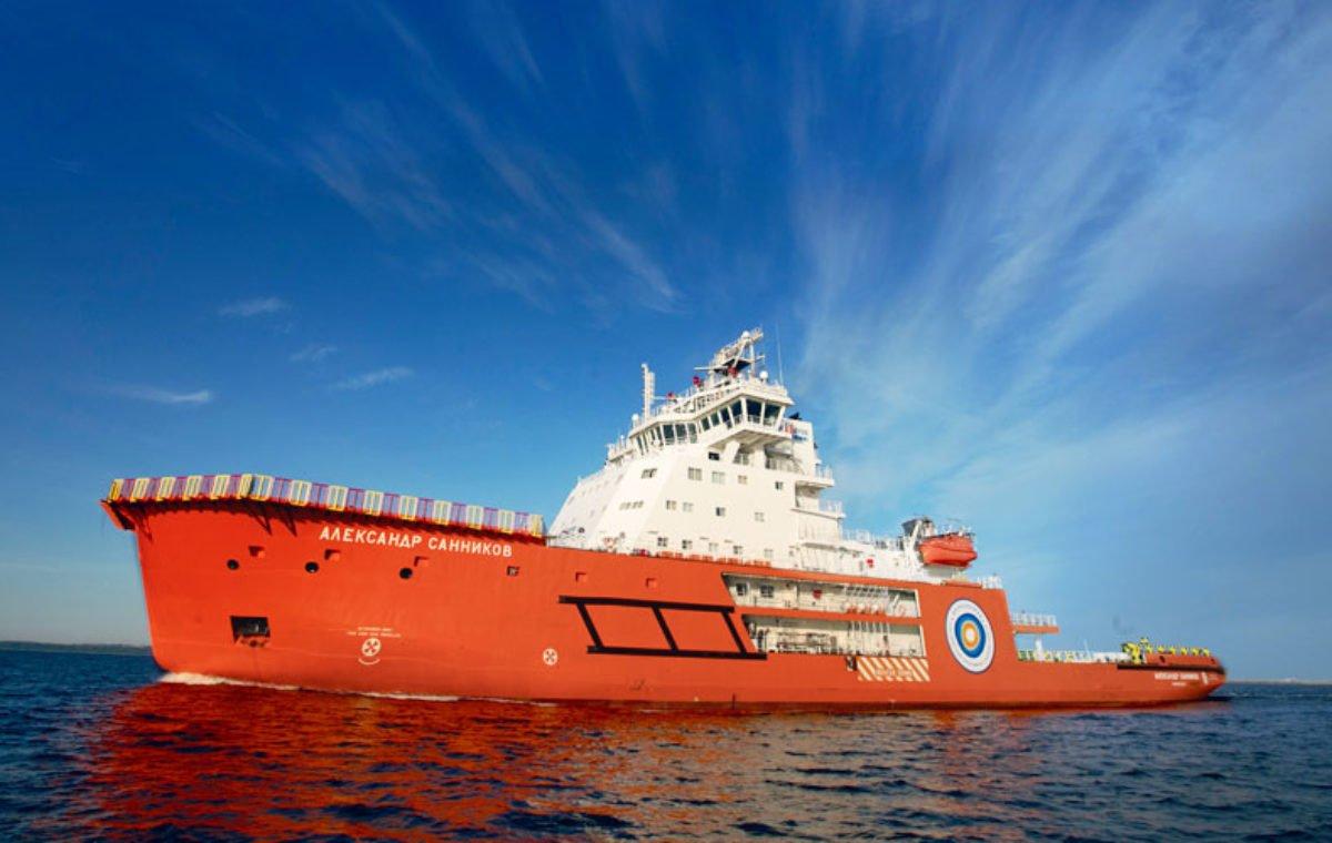 Брендирование арктического ледокола