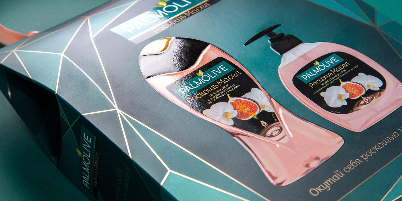 Дизайн подарочного пакета Palmolive