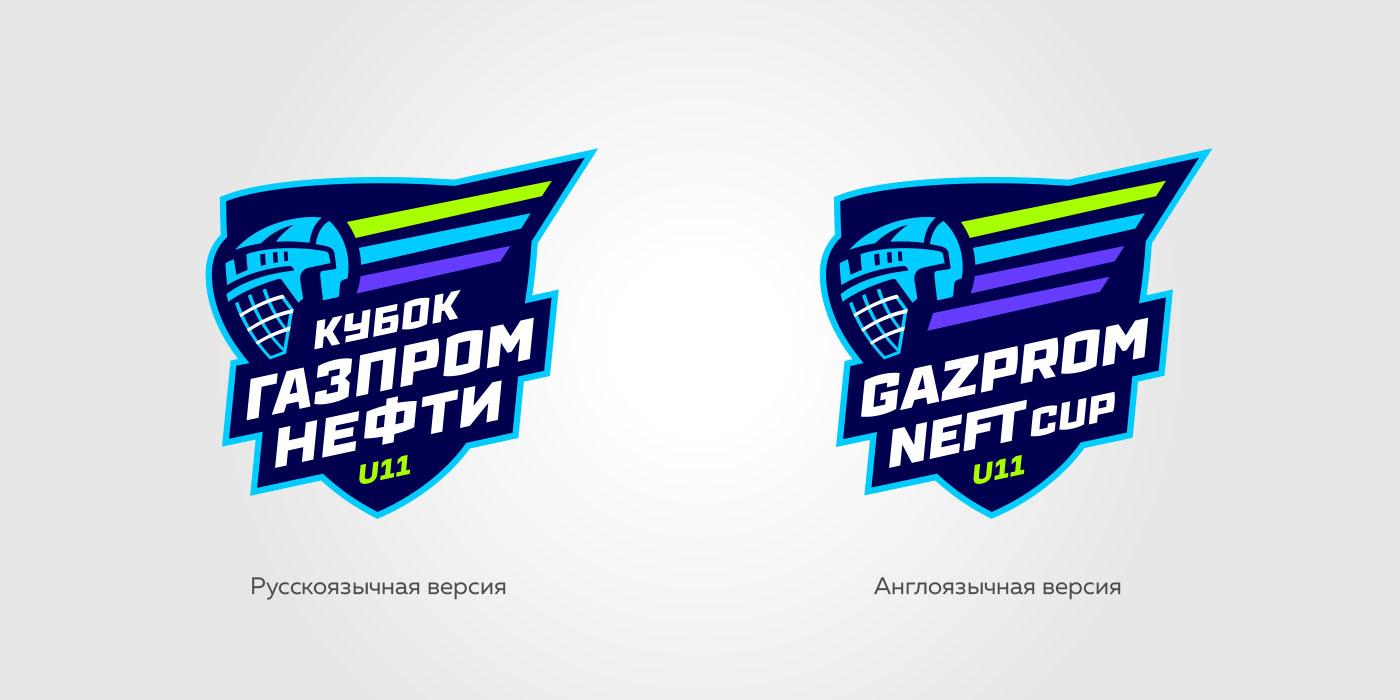 Русский и английский логтип кубка